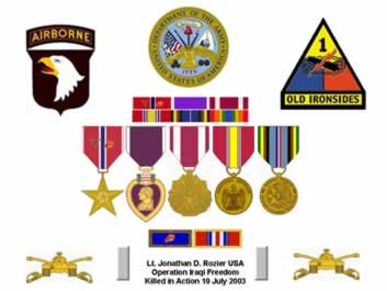 Personal Decorations and Service Medals of Lt. Jonathan D. Rozier